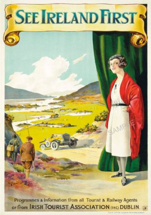 Ireland 1930s Tourist Car Travel Advert
